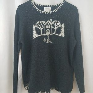 Christopher & Banks Hand Embroidered Sweater XL